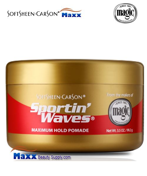 Softsheen & Carson Sportin' Waves Maximum Hold Pomade 3.5oz - Gold