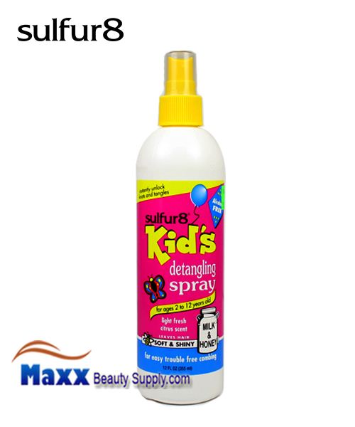 Sulfur8 Kids Milk & Honey Detangling Spray 12 oz