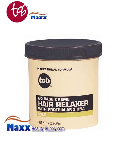TCB No Base Cream Hair Relaxer 15oz Jar - Mild