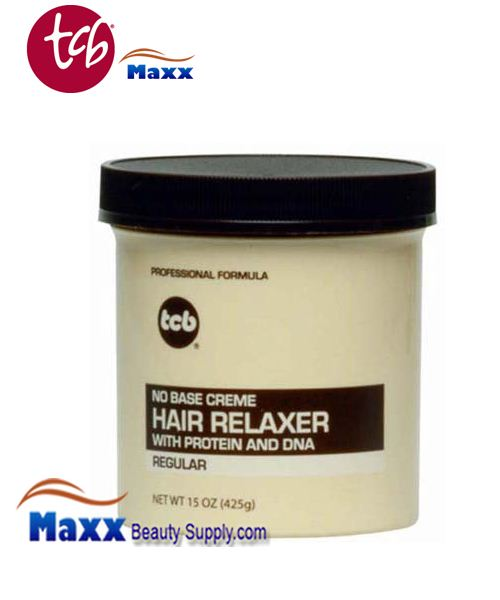 TCB No Base Cream Hair Relaxer 15oz Jar - Regular
