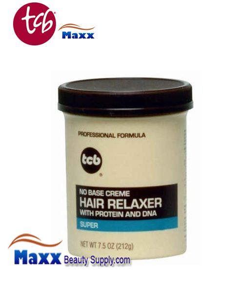 TCB No Base Cream Hair Relaxer 7.5oz Jar - Super