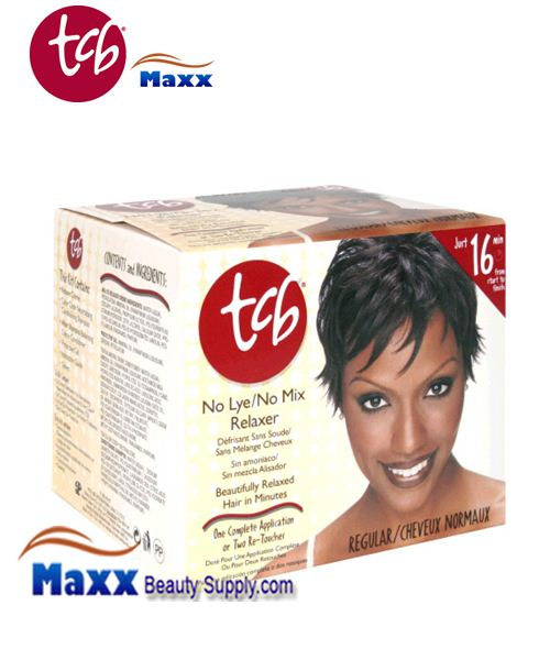 TCB No Lye No Mix Relaxer 1 App Kit - Regular