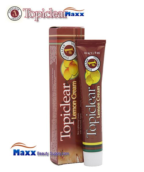 Topiclear Lemon Cream Skin Lightening Cream with Sunscreen 1.76 oz - Tube