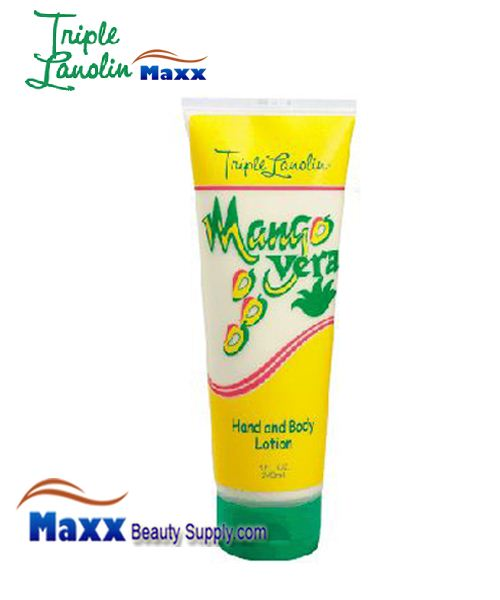 Triple Lanolin Hand and Body Lotion 8oz - Mango Vera