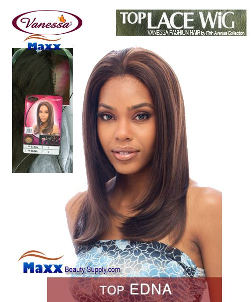 Vanessa Top Lace Front Synthetic Hair Wig - Top Edna