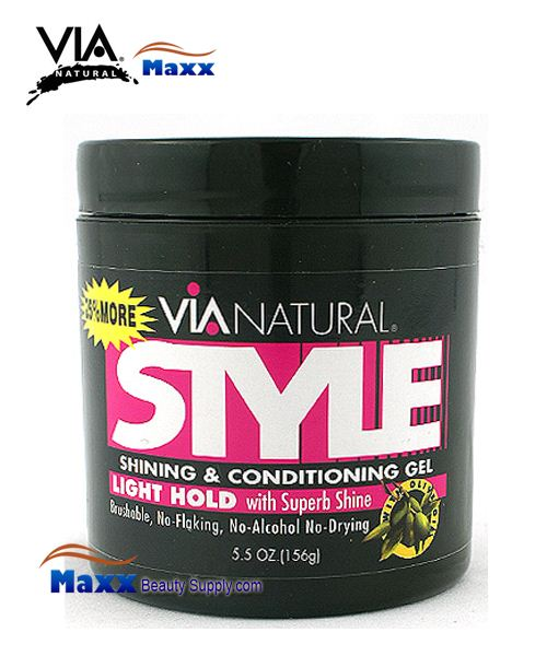 Via Natural Style Shining and Conditioning Gel Light Hold 5oz