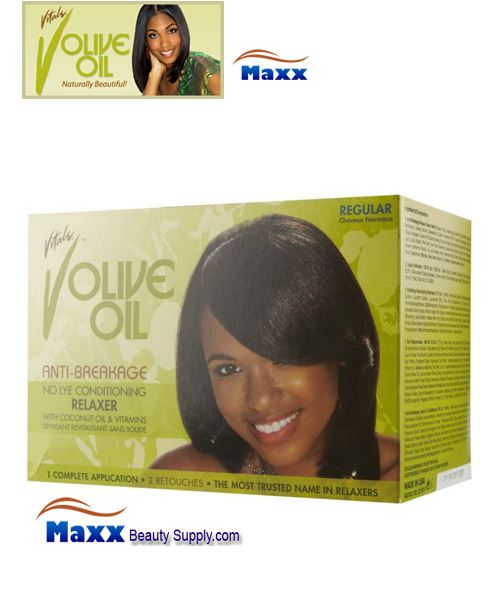 Vitale Olive Oil Sensitive Scalp No Lye Relaxer Kit 1 App - Regular