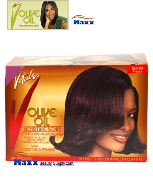 Vitale Olive Oil Sensitive Scalp No Lye Relaxer Kit 1 App - Super