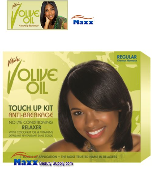 Vitale Olive Oil Touch Up Kit Conditioning No-Lye Relaxer Kit - Regular
