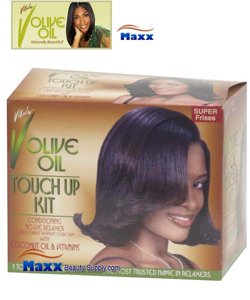 Vitale Olive Oil Touch Up Kit Conditioning No-Lye Relaxer Kit - Super