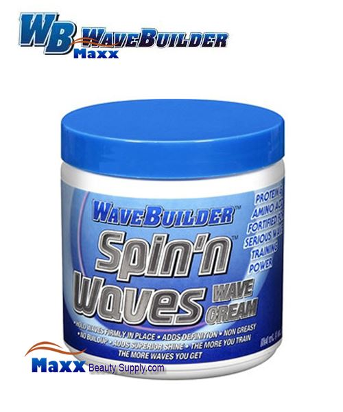 Spartan Wave Builder Spin'n Waves Wave Cream 8oz - Jar