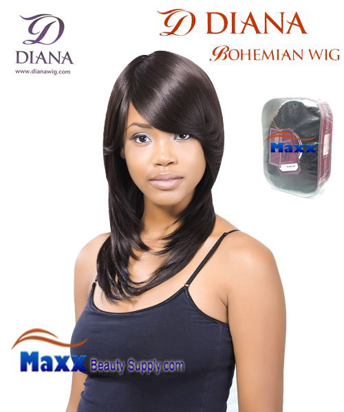 Diana Bohemian Synthetic Hair Full Wig - Kara