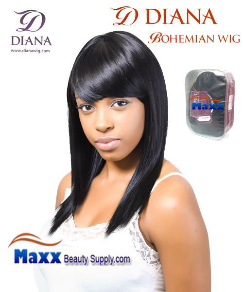 Diana Bohemian Synthetic Hair Full Wig - Nana