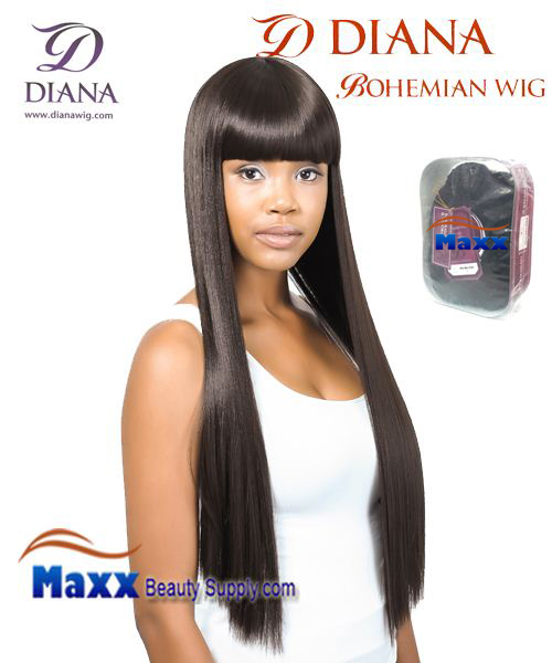 Diana Bohemian Synthetic Hair Full Wig - Quti