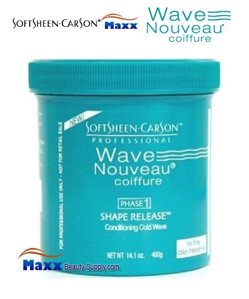 Softsheen & Carson Wave Nouveau PHASE 1 Shape Release Conditioning Cold Wave 14.1oz - Fine/Color-Treated Hair
