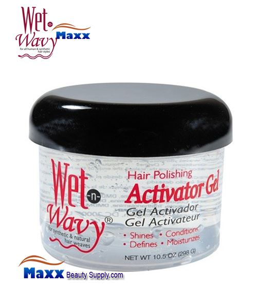 Bonfi Wet n Wavy Hair Polishing Activator Gel 10.5oz - Jar