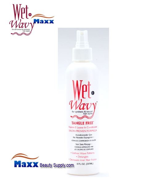 Bonfi Wet n Wavy tangle Free Leave In Conditioner Spray 08oz - Bottle