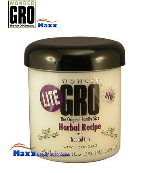 Wonder Gro Lite Herbal Recipe with Tropical Oil 12oz