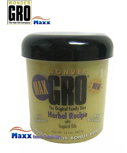 Wonder Gro Max Herbal Recipe with Tropical Oil 12oz