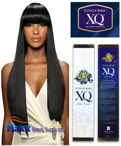 "XQ Cuticle Remy Human Hair Fortified Cuticles Yaky Weave 16"",18"""