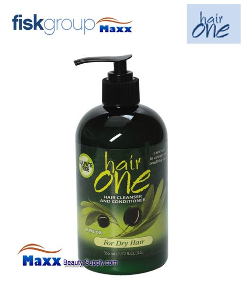 Fisk Hair One Olive Oil Cleansing Conditioner For Dry Damaged Hair 12oz