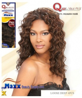 Que By Milkyway Human Hair Mastermix Loose Deep 4pc