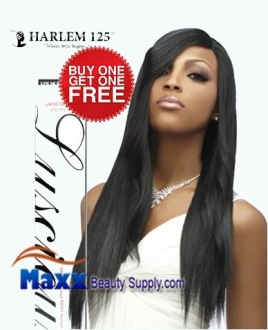 "Harlem 125 Luscious Remy Human Hair Weaving - Remy Yaki 14""(Buy 1 Get 1 Free)"