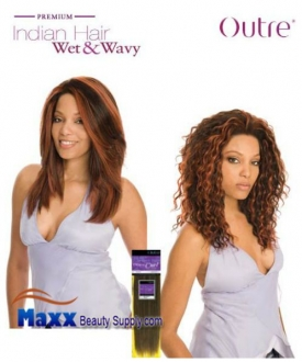 Outre Premium Indian Hair Weave Wet & Wavy Human Hair - Loose Curl 10""