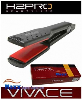 H2Pro Vivace Ceramic Styling Flat Iron Wet to Dry - 1 3/4""