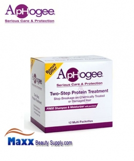 ApHogee 2 Step Protein Treatment and Balanced Moisturizer - Disp(12 Pack)
