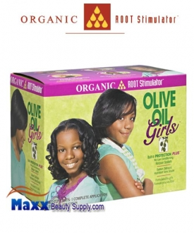 Organic Root Stimulator Girls Olive Oil No-Lye Conditioning Relaxer System