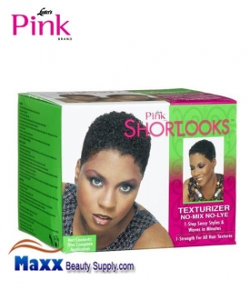 Luster's Pink ShortLooks Hair Texturizer Kit No-mix No-Lye