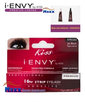 Kiss i Envy 16hr Strip Lash Adhesive Glue 0.7oz - KPEG02 - Jet Black