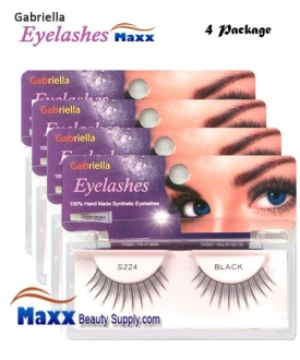 4 Package - Gabriella Eyelashes Strip Synthetic Hair - S224