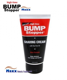 High Time Bump Stopper Shaving Cream with Tea Tree Oil 5oz - Tube
