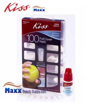 Kiss Nail 100 Nails Kit - 100PS12 : Active Square