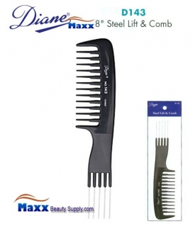 Diane D143 Rake Handle Comb Steel Prong