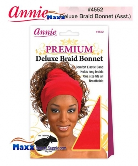 Annie Premium Deluxe Women #4552 Braid Bonnet - Assort