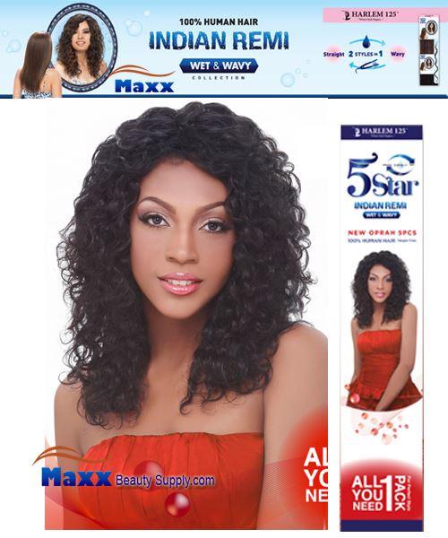 Harlem 125 5 Star Indian Remi Hair Wet Wavy New Oprah 5pcs